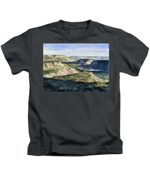 Evening Flight Over Palo Duro Canyon Kids T-Shirt