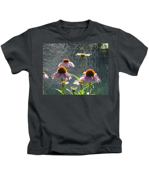 Flowers In The Rain Kids T-Shirt