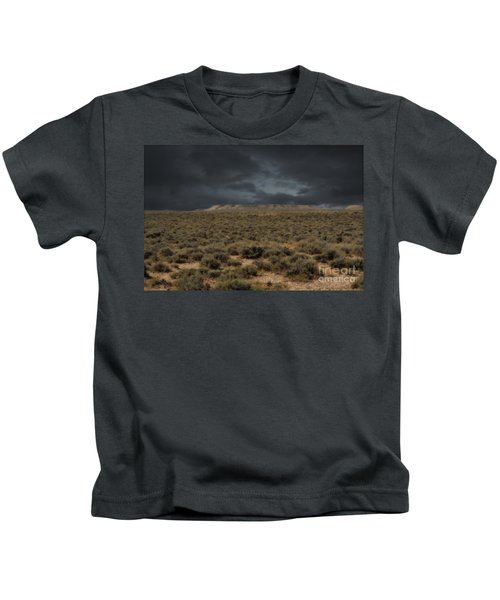 Midnight On The Pairie In Wyoming Kids T-Shirt
