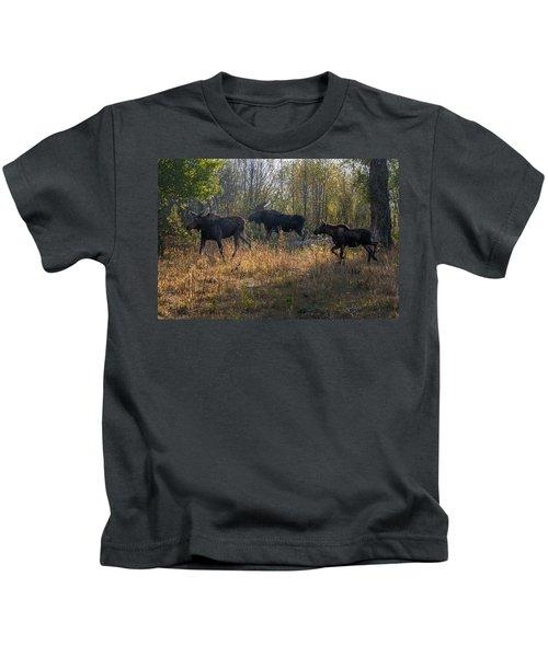 Moose Family Kids T-Shirt