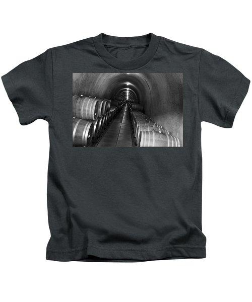Napa Wine Barrels In Cellar Kids T-Shirt