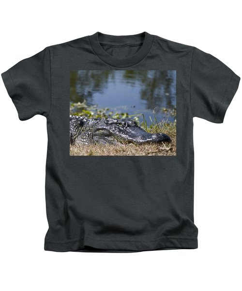 On The River Bank Kids T-Shirt
