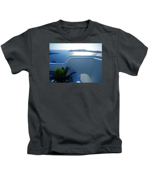 Kids T-Shirt featuring the photograph Peaceful Sunset Santorini by Colette V Hera  Guggenheim