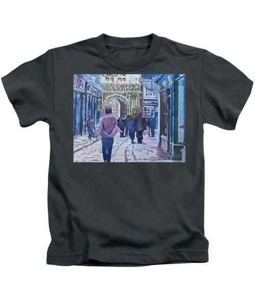 Pilgrims At The Gate Kids T-Shirt