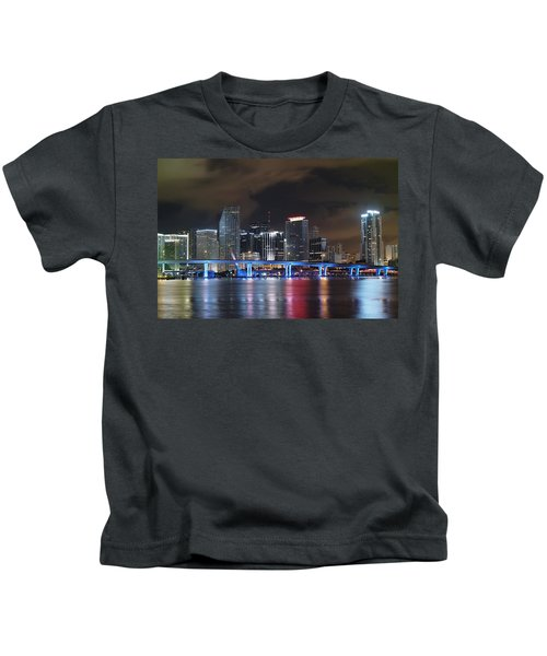 Port Of Miami Downtown Kids T-Shirt