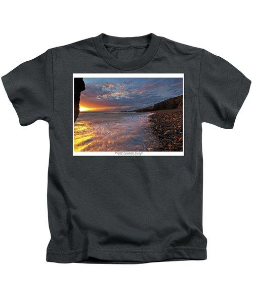 Porth Swtan Cove Kids T-Shirt