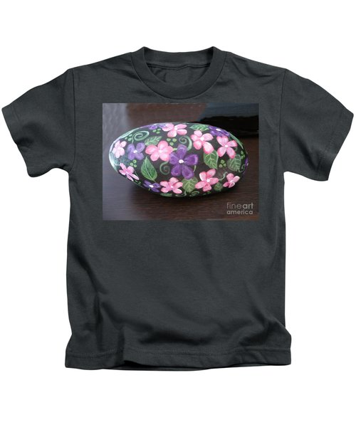 Purple And Pink Flowers Kids T-Shirt