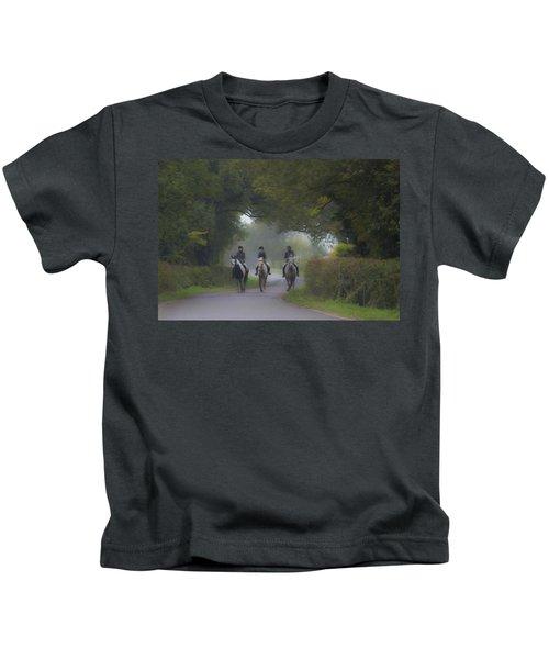 Riding In Tandem Kids T-Shirt