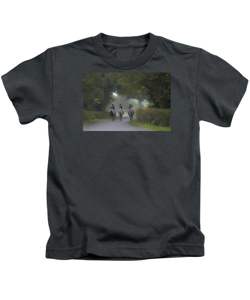 Riding In Tandem Kids T-Shirt