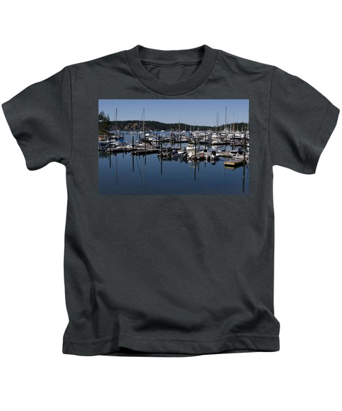 Roche Harbor Reflected Kids T-Shirt