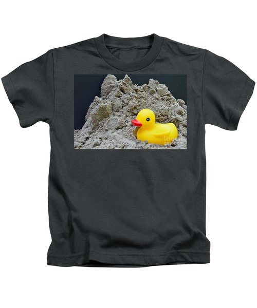 Sand Pile And Ducky Kids T-Shirt