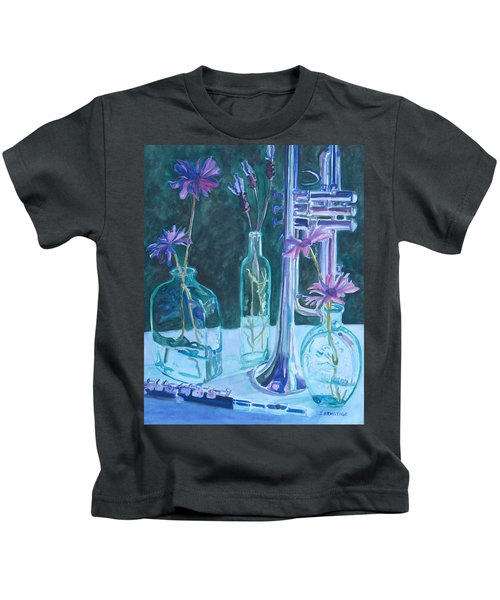 Silvery Night Music Kids T-Shirt