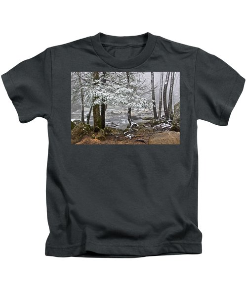 Smoky Mountain Stream Kids T-Shirt