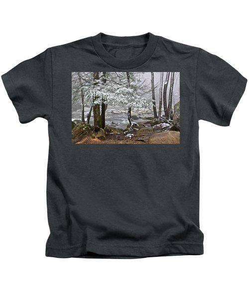 Smoky Mountain Stream Kids T-Shirt