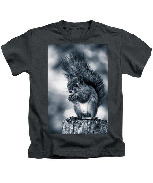 Squirrel In Monochrome Kids T-Shirt