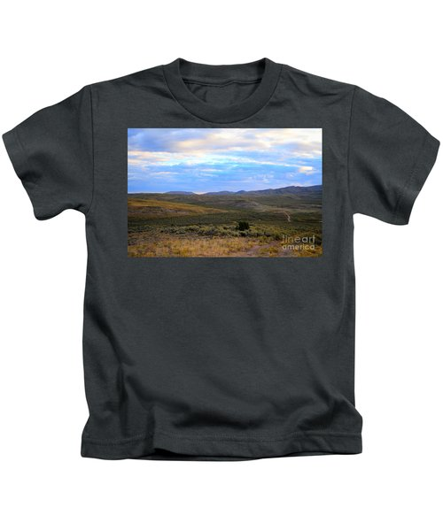 Stormy Wyoming Sunrise I Kids T-Shirt