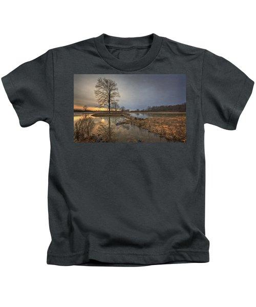 Sunset At Timber Banks Kids T-Shirt