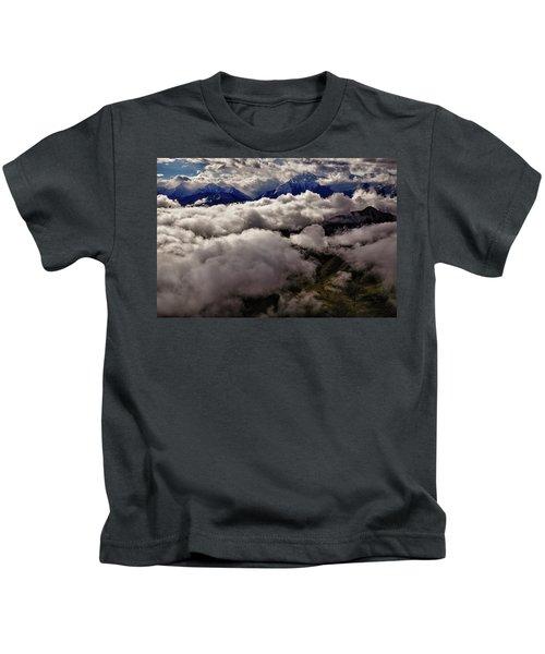 Ten Thousand Feet Over Denali Kids T-Shirt
