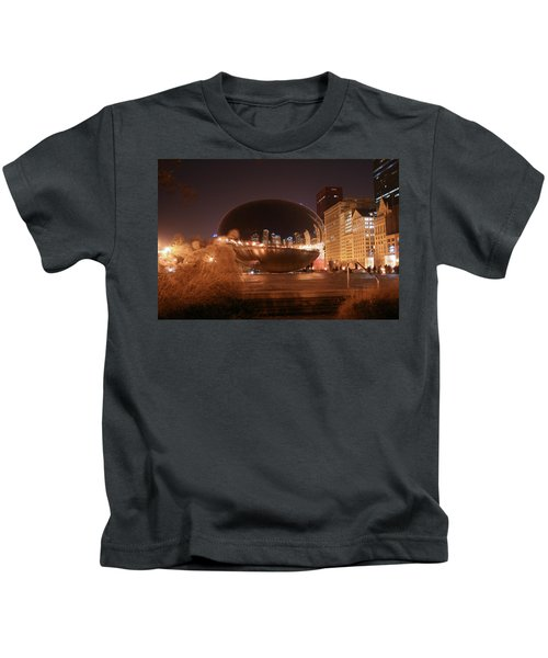 The Bean On A Winter Night Kids T-Shirt