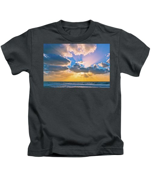 The Sea In The Sunset Kids T-Shirt