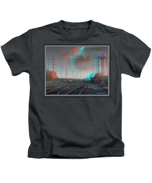 Tracking The Storm - Red-cyan Filtered 3d Glasses Required Kids T-Shirt