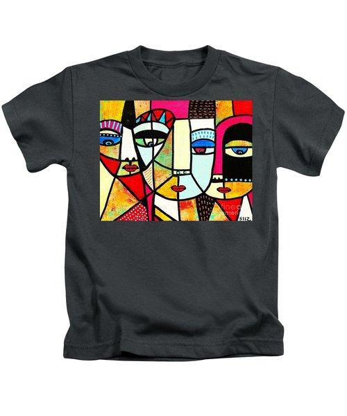 Tribal Batik Mask Spiritual Kids T-Shirt