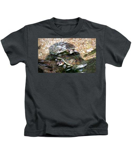Turtle Two Turtle Love Kids T-Shirt