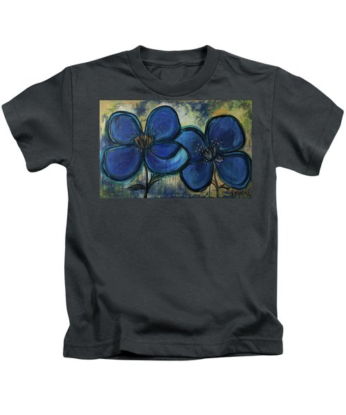 Two Blue Poppies Kids T-Shirt