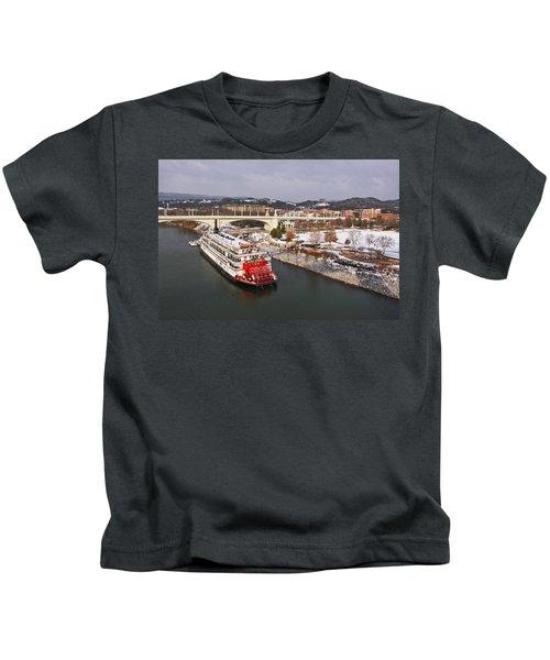 Winter In Coolidge Park Kids T-Shirt