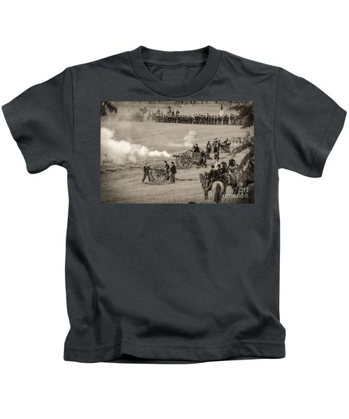 Gettysburg Union Artillery And Infantry 7439s Kids T-Shirt
