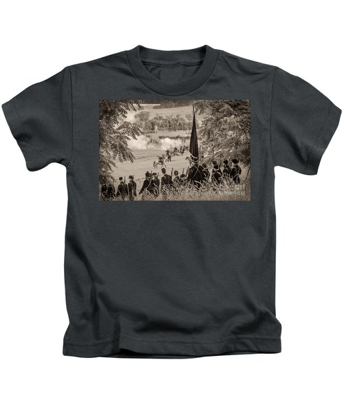 Gettysburg Union Artillery And Infantry 7457s Kids T-Shirt
