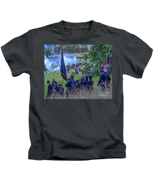 Gettysburg Union Artillery And Infantry 7459c Kids T-Shirt