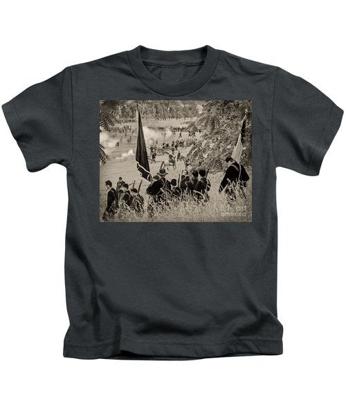 Gettysburg Union Artillery And Infantry 7459s Kids T-Shirt