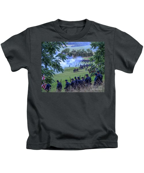 Gettysburg Union Artillery And Infantry 7465c Kids T-Shirt