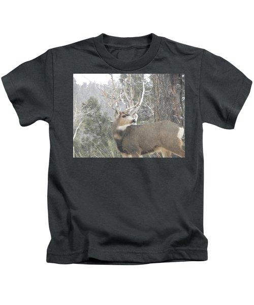 Buck Front Yard Divide Co Kids T-Shirt