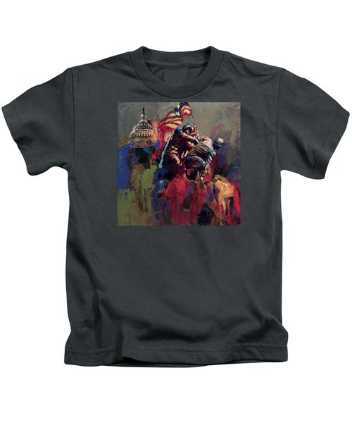 062 Jima Marine Memorial Washington Dc Kids T-Shirt