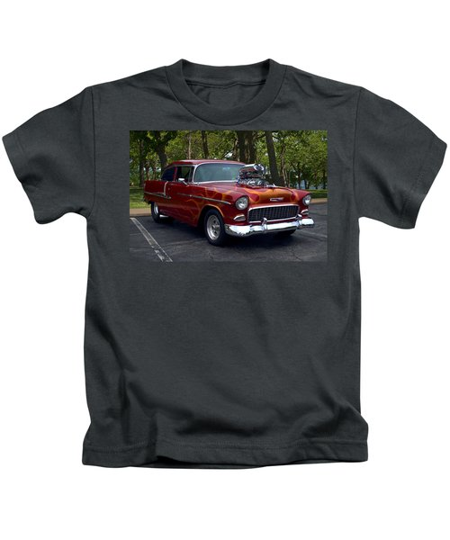 1955 Chevrolet Dragster Kids T-Shirt