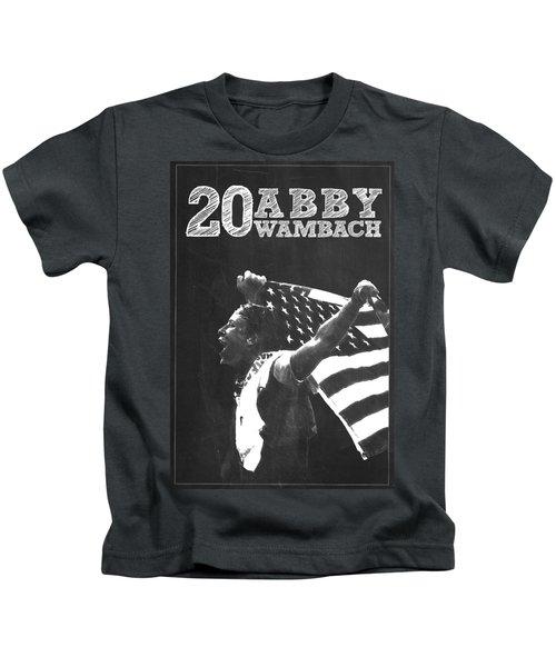 Abby Wambach Kids T-Shirt by Semih Yurdabak