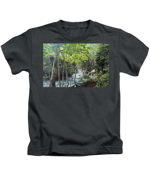 Along Alberta Falls Trail Rocky Mountain National Park Kids T-Shirt