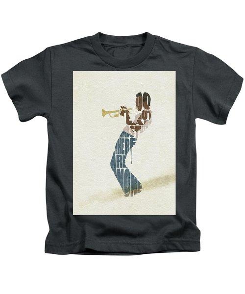 Miles Davis Typography Art Kids T-Shirt