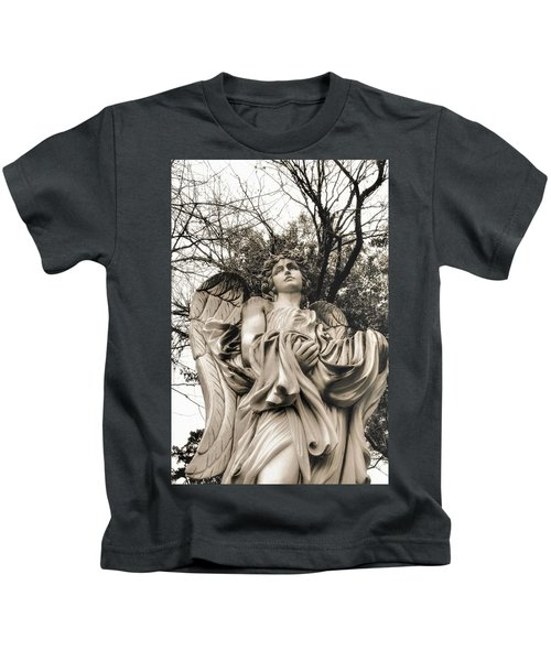 Angel In The Fall Kids T-Shirt