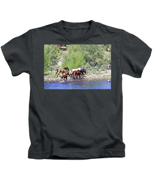 Arizona Wild Horses Kids T-Shirt