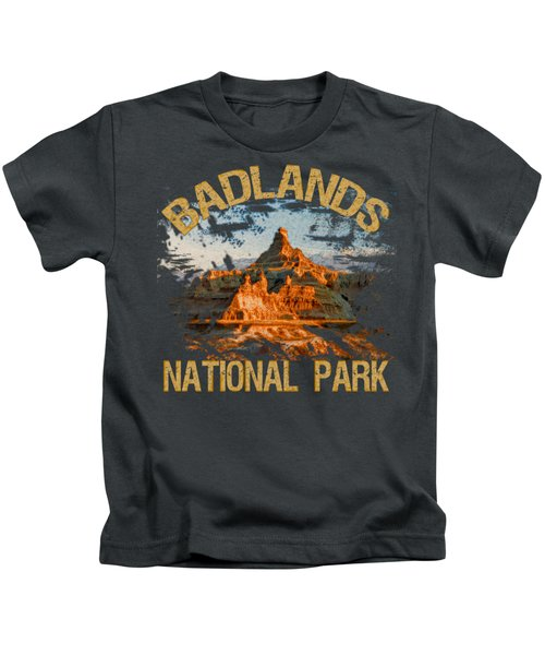 Badlands National Park Kids T-Shirt by David G Paul