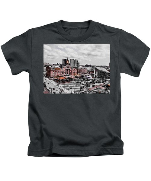 Kids T-Shirt featuring the photograph Baltimore Power Plant by Chris Montcalmo