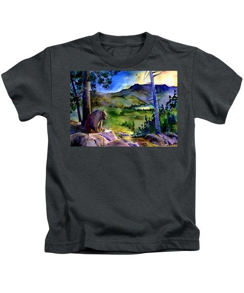 Bearly Light At Castle Peak Kids T-Shirt