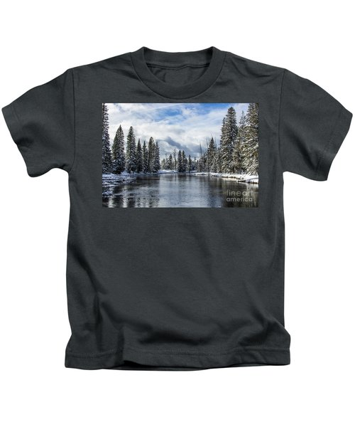 Big Springs In Winter Idaho Journey Landscape Photography By Kaylyn Franks Kids T-Shirt
