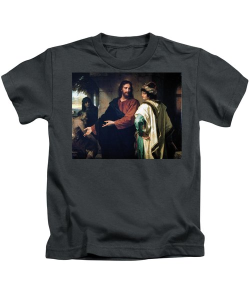 Christ And The Rich Young Ruler Kids T-Shirt