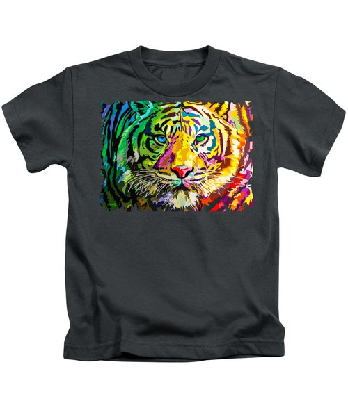 Colorful Tiger Kids T-Shirt