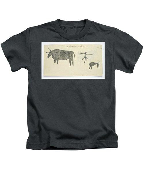 Copies After San Rock-paintings Of An Ox, A Baboon, And A Man, Robert Jacob Gordon, 1777 Kids T-Shirt