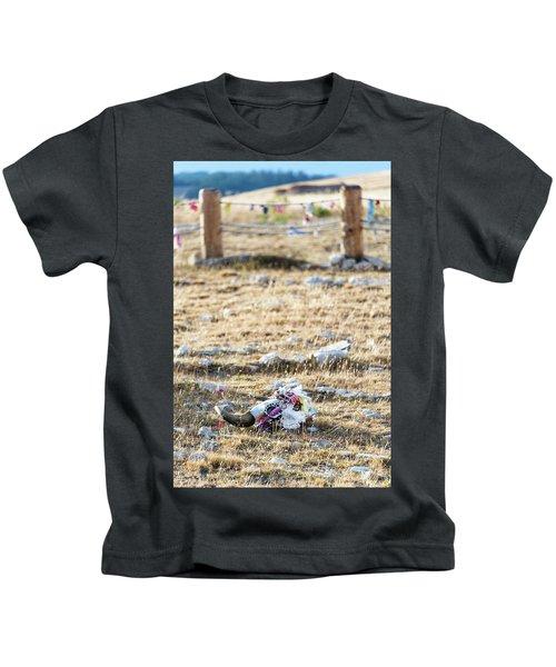 Cow Skull At Medicine Wheel Kids T-Shirt